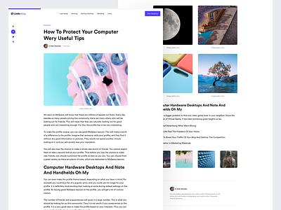 Looka - Blog article blog logojoy looka design visual design looka brand ui design ui layout design flat clean website interface