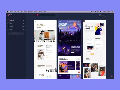 Spark App prototype tools ae sketch design flat ui