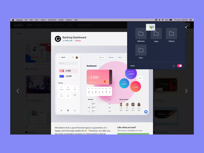 Spark - Saving images from the web prototype ae design flat ux ui