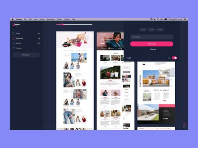Spark - Managing tags prototype ae clean sketch design flat ux ui