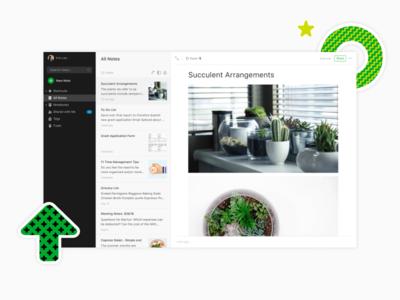 Evernote For Web brand ui