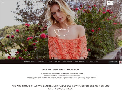 Stylishme fashion ecommerce webdesign design shopify website