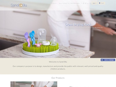 Sandi Blu innovation baby ecommerce webdesign design shopify website