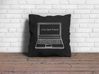 Laptop Square Pillow Design