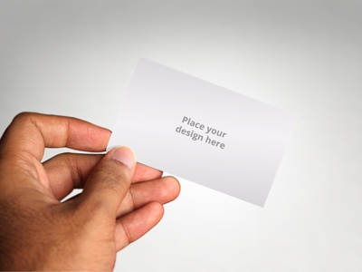 Realistic business card in hand mockup by idris dribbble card 1 colourmoves