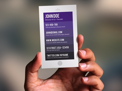 Free smart phone business card by idris dribbble free smart phone business card colourmoves
