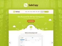 Website design for an online backup service
