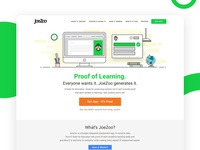 Illustration and Web design for Education company