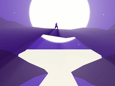 Rock Bridge moon after effects short film light design animation illustration illustrator