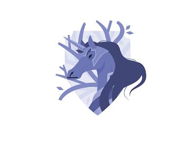 Blue Iris Unicorn tapekingkong horse vector purple illustration