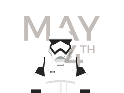 May the 4th be with you! tapekingkong stormtrooper white vector illustration starwars