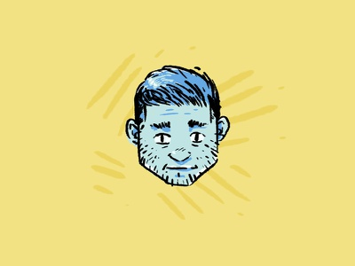 The guy with GERD yellow tapekingkong sad face headshot illustration