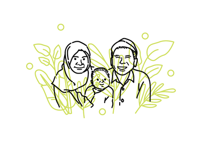 Family Portrait family vector illustration tapekingkong