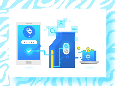 Etherium blue editorial spot etherium currency crypto vector illustration tapekingkong