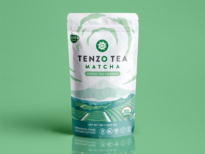 Tenzo Tea Packaging illustration mountain japan vector tea packaging tea matcha packaging design illustration