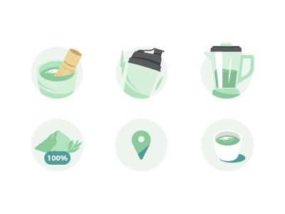 Icons for Tenzotea tenzotea icons pack icons set branding