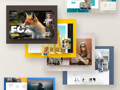 2019 Web Design on Behance work update portfolio behance photoshop web responsive ux website ui design drawingart