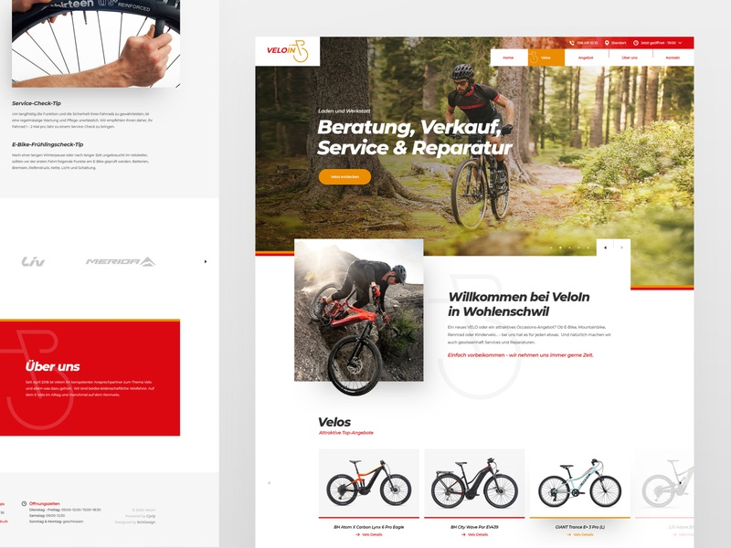 Swiss bike shop cycles bike layout photoshop responsive minimal webdesign ux uiux ui design web website 8chdesign drawingart