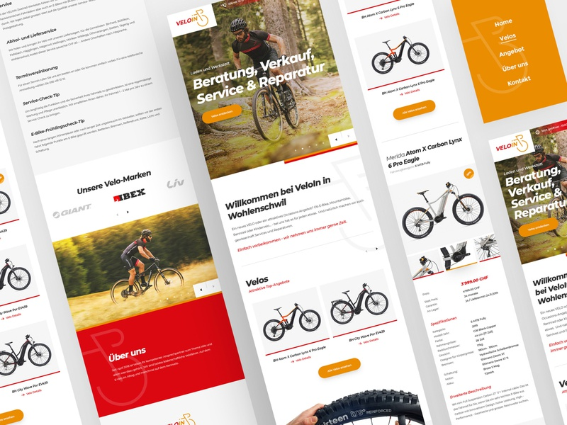 Swiss bike shop Mobile mobile minimal webdesign clean photoshop web responsive ux website ui design
