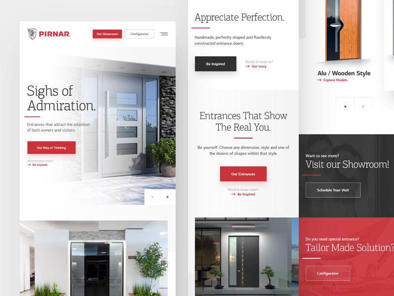 Pirnar Mobile tablet webdesign clean photoshop web responsive ux website ui design drawingart