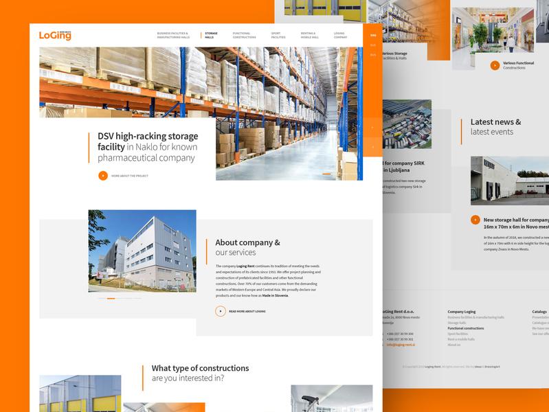 Loging Rent webdesign clean photoshop web responsive ux website ui design drawingart