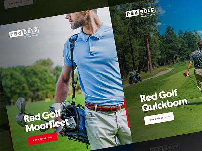 Red Golf golfer golf club golfcourse golfing golf webdesign clean photoshop web responsive ux website ui design drawingart