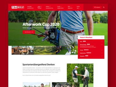 Red Golf golf course playing golf golf club golfer golf minimal webdesign clean photoshop web responsive ux website ui design drawingart