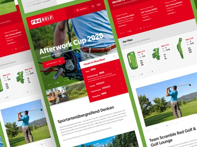 Red Golf Mobile playing golf golfer golfing golf club golf course golf webdesign clean photoshop web responsive ux website ui design drawingart