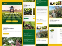 Dave Wilson Nursery Mobile california orchard trees nursery mobile webdesign clean photoshop web responsive ux website ui design drawingart