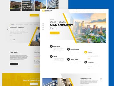 Golden Gate Management realestate estate real properties management webdesign clean photoshop web responsive ux website ui design drawingart