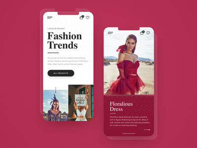 Fashion Trends Mobile adobexd freebie free trend fashion phone minimal responsive ux website ui design drawingart