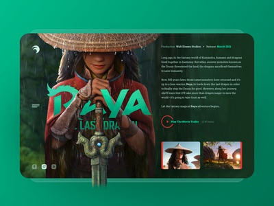 Raya movies kids movie exploration concept web responsive ux website ui design drawingart