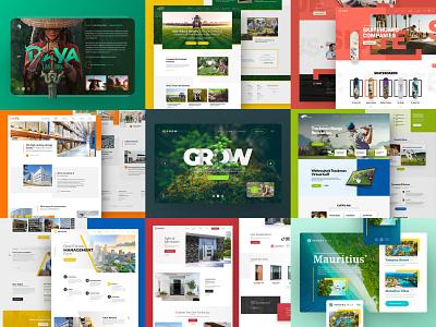 Best 9 Projects of 2020 webdesign clean photoshop web responsive ux website ui design drawingart