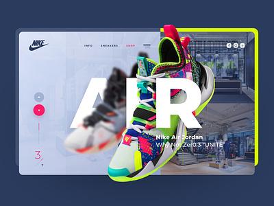 Jordan Zer0.3 Freebie experiment sneakers nike exploration webdesign clean photoshop web responsive ux website ui design drawingart