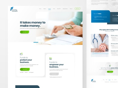 Funding Forward ppp funding adobexd web responsive ux website ui design drawingart