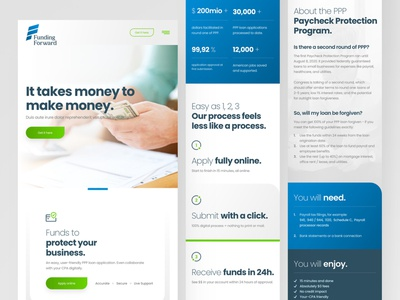 Funding Forward Mobile money usd usa loans ppp adobexd web responsive ux website ui design drawingart