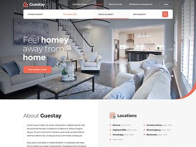 Rental Real Estate rent rental realestate adobexd webdesign clean web responsive ux website ui design drawingart