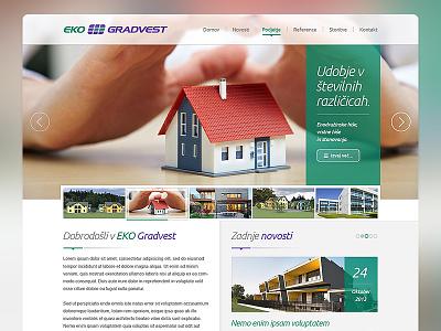 EKO Gradvest eko gradvest ux ui photoshop design layout homepage home drawingart