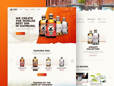 Hamburg Zanzibar beverage alcohol drink zanzibar hamburg aqua tonic gin minimal webdesign web responsive ux website ui design drawingart
