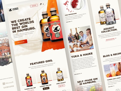 Hamburg Zanzibar Mobile tonic aqua gin beverage layout minimal webdesign web responsive ux website ui design drawingart