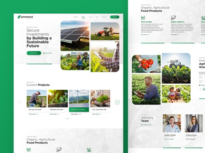 Greenbond energy nature green innovation agricultural enviroment sustainability web responsive ux website ui design drawingart