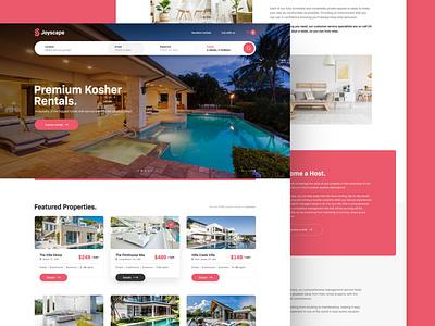 Joyscape hotel kosher vacation florida miami rental web responsive ux website ui design drawingart