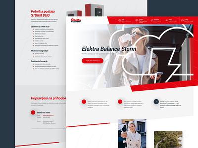 Elektra Balance green environment charging elertric electricity web responsive ux website ui design drawingart