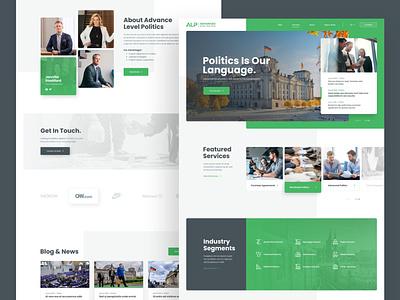 ALP Advanced Level Politics germany webui advanced web responsive ux website ui design drawingart politics