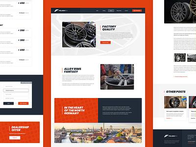 FelgenFix Pages car powdercoating fix wheels rims web responsive ux website ui design drawingart