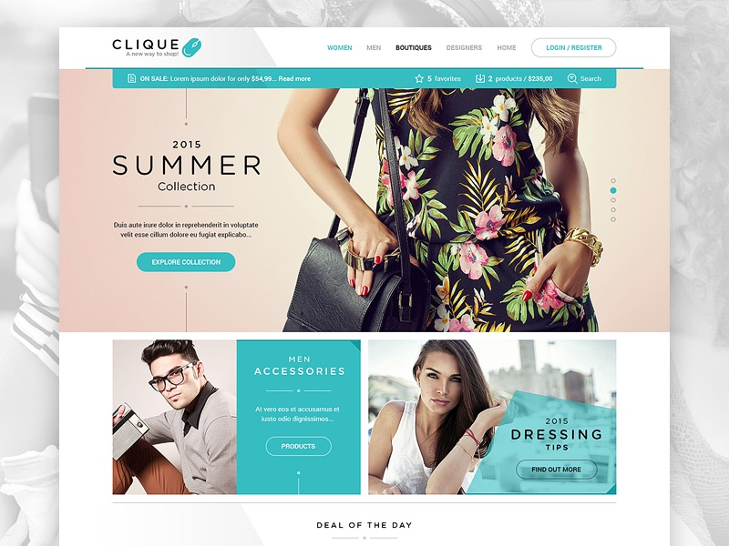 Clique html5 responsive drawingart web photoshop design ux ui website ecommerce shop clique