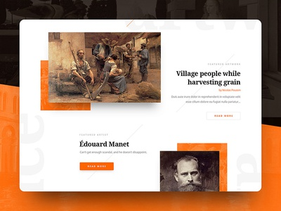 Sartle history art gallery responsive web design drawingart ux ui website