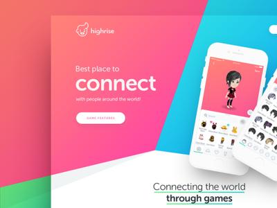 Highrise iphone ios network social ux ui website web design game drawingart highrise
