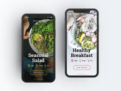 Recipes App userexperience userinterface iphone clean ux ui ios application app drawingart recipe recipes