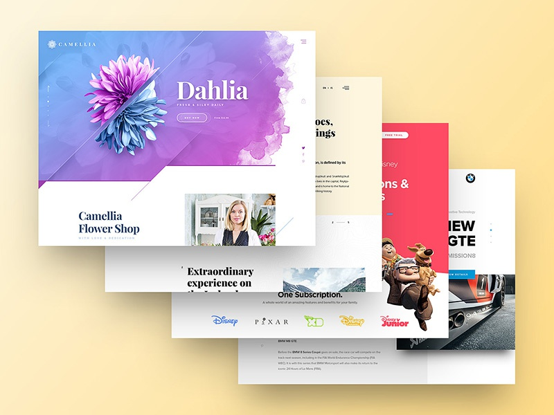 2017 Web Design on Behance responsive behance ui ux uidesign uxdesign drawingart minimal clean design website web